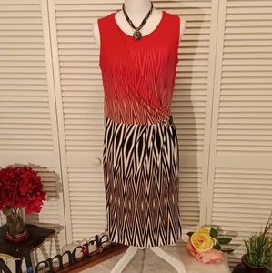 Calvin Klein midi dress with side buckle.